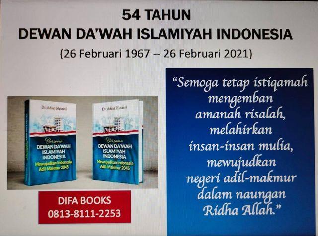 54 TAHUN DEWAN DA'WAH ISLAMIYAH INDONESIA